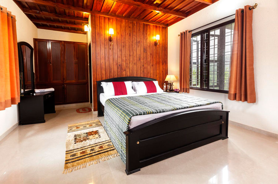 An aesthetically furnished bedroom at the resort
